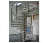 točité schodisko využíva len málo priestoru