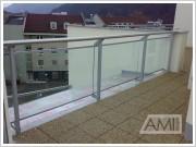 preskelné zábradlie balkónov